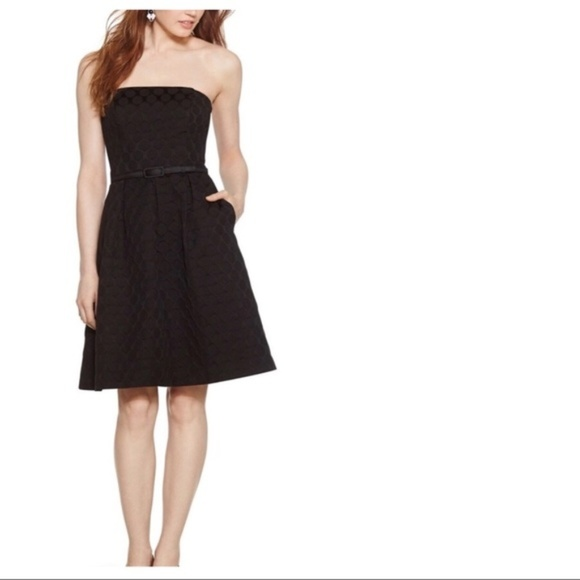 f2de322562feb White House Black Market Dresses | Whbm Silk Black Strapless Dress ...